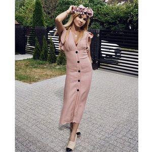 Zara rustic ruffle dress